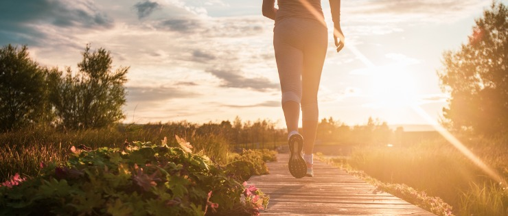 Jogging outside and getting some fresh air will help clear your mind