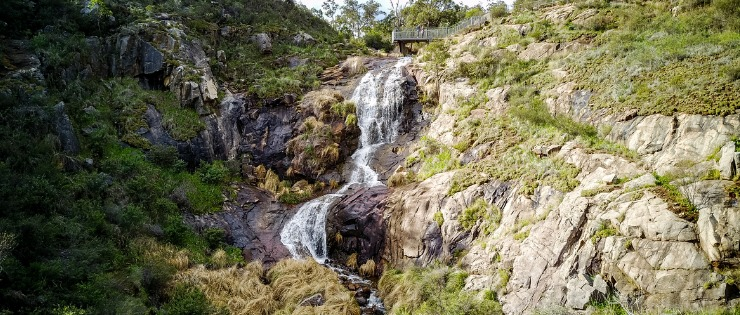 Lesmurdie falls near Perth, beautiful waterfalls with several bushwalking trails
