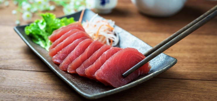 Raw salmon - source of lean protein and heart health benefits