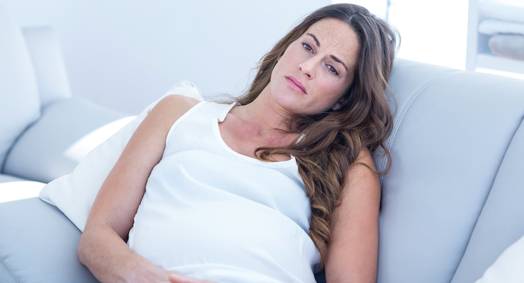 woman suffering from prenatal depression