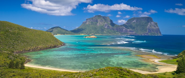 Lorde Howe island, perfect for a domestic Australian holiday