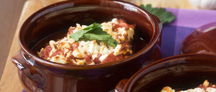 Greek Baked Eggplant with Tomato and Feta